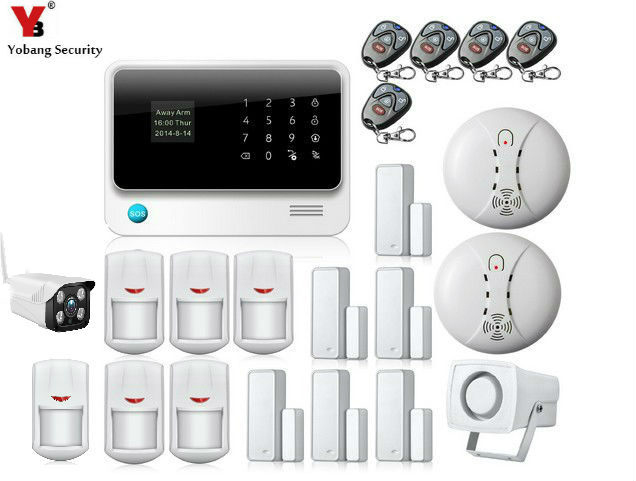 YobangSecurity WiFi GSM GPRS font b Alarm b font System G90B IOS Android APP Control Home