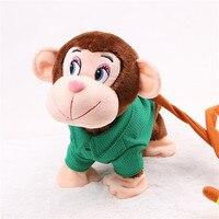 Abbyfrank Yumuşak Elektronik Peluş Maymun Oyuncaklar Müzikal Bebek Çocuk Elbise Giymek Için Sevimli Oyuncak Pet Erken Eğitim Jouet Enfan