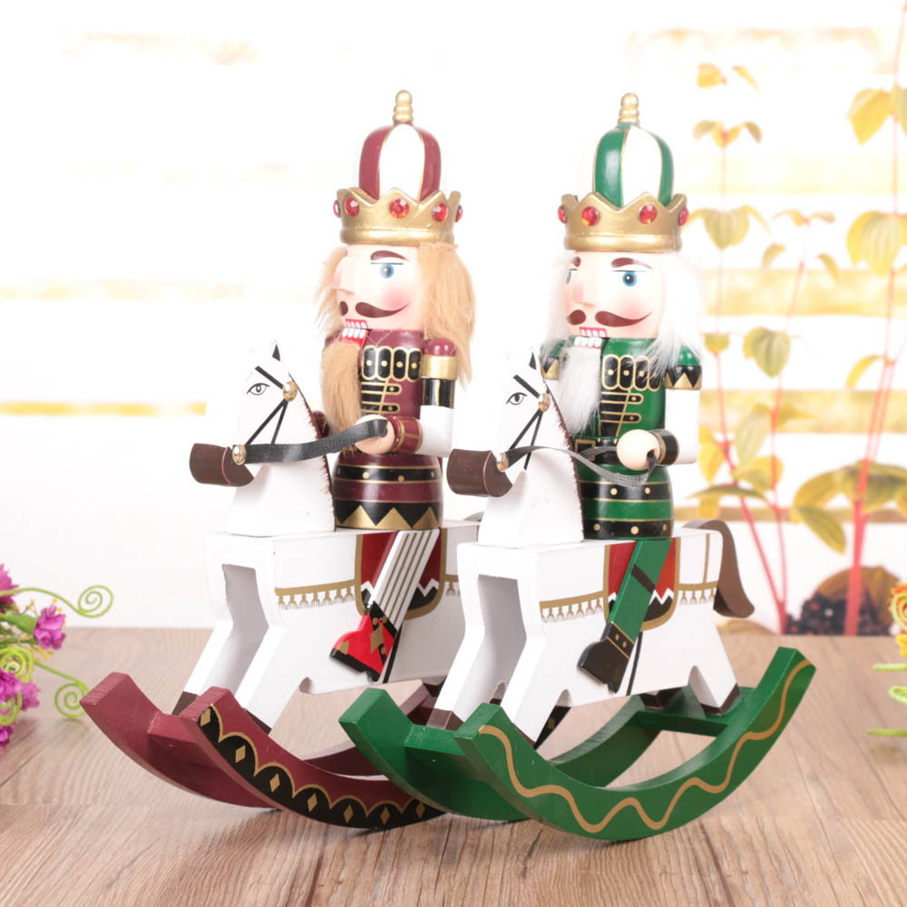 Lot Rocking Horse Nutcracker Soldier Cartoon Doll Gif Toys Fashion For  Home Decoration