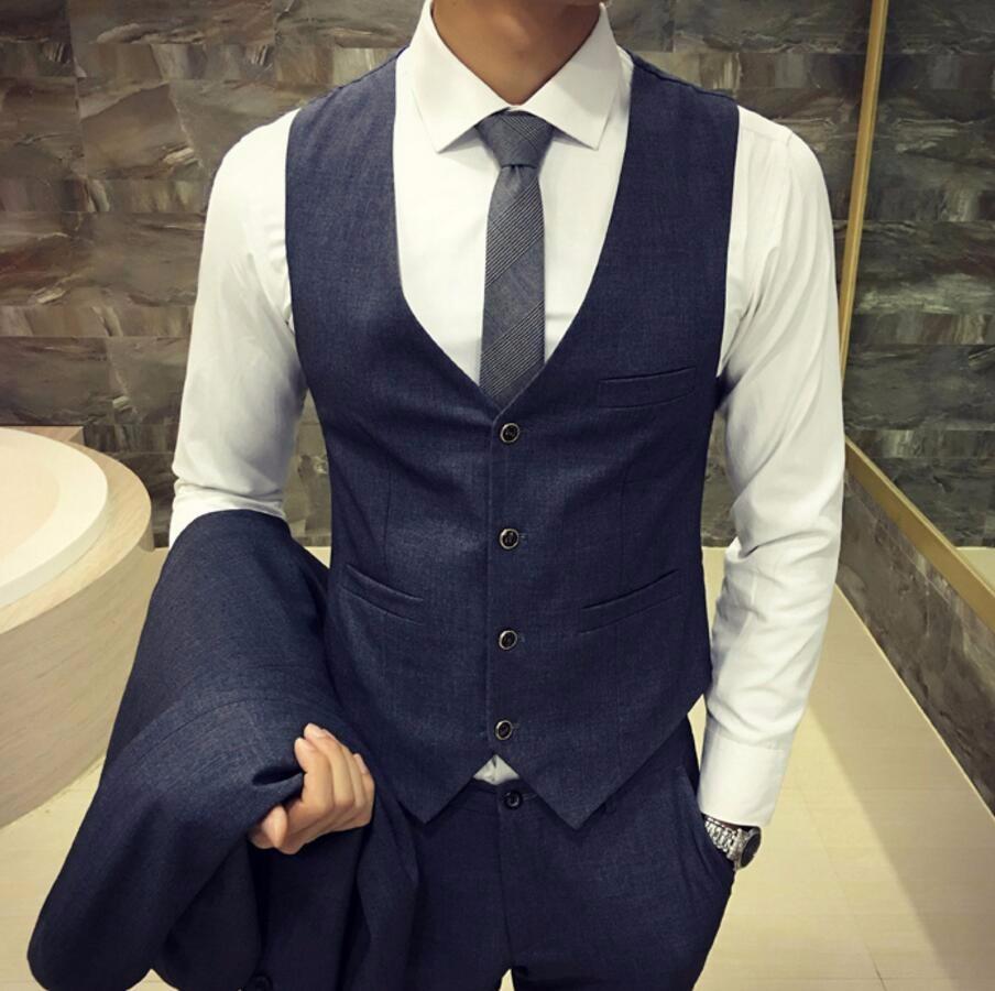 30.1 Autumn man waistcoat British style wedding the groom\'s best man suit vest business casual profession waistcoat