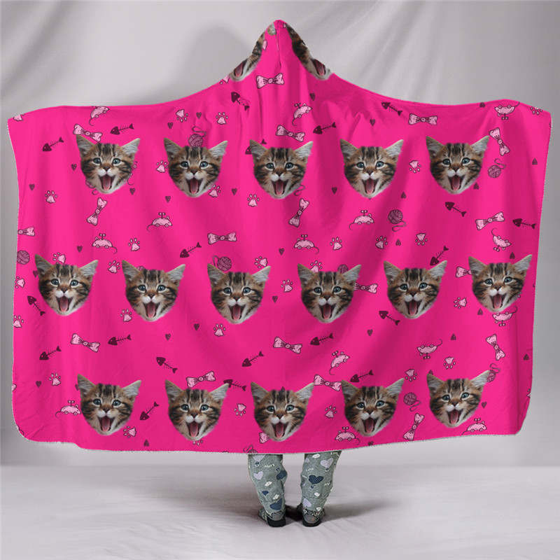 Custom-blanket-cat-photo-pink