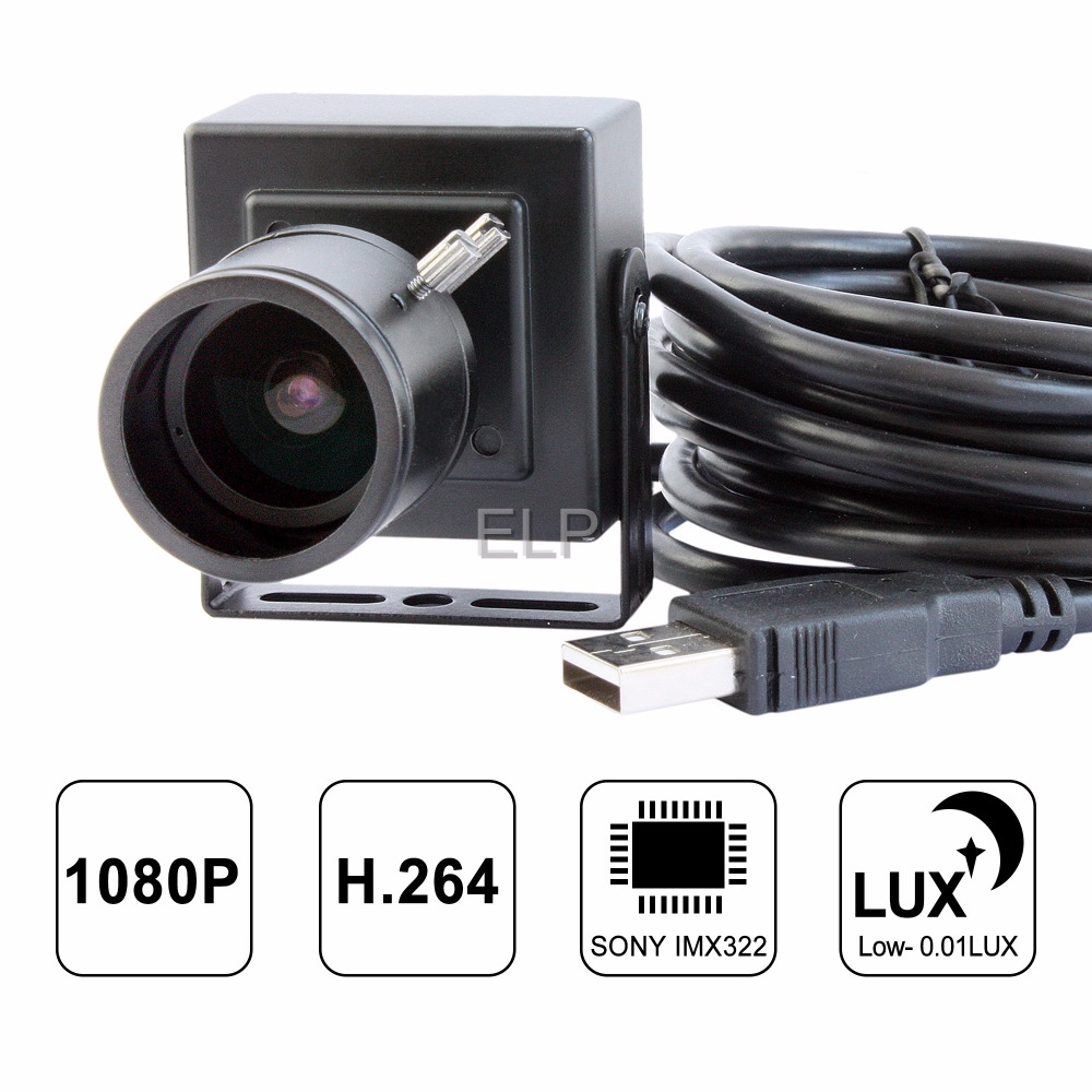 Full HD 1080P H.264 varifocal lens USB webcam IMX 322 with build in microphone for Video Conferencing systems ELP-USBFHD06H-BFV driveless 1 3mp hd webcam with built in microphone black