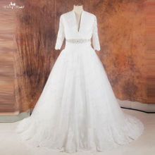 yiaibridal RSW1016 V Neckline Front Wedding Dresses With