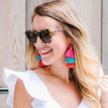 Bohemia Tassels Earrings For Women Beach Jewelry Long Dangle Drop Statement Brincos Fringe Earrings