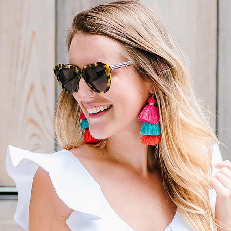 Bohemia Tassels Earrings For Women Beach Jewelry Long Dangle Drop Statement Brincos Fringe Earrings