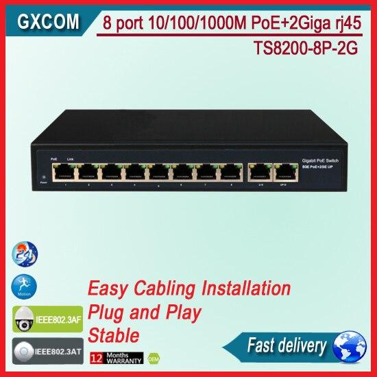 VLAN 8 Port Gigabit managed poe Switch POE+ ieee802.3af/at compliant ...
