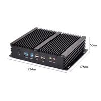 EIP Intel i5 4200 mini itx чехол с 4G 128G SSD и 500G HD