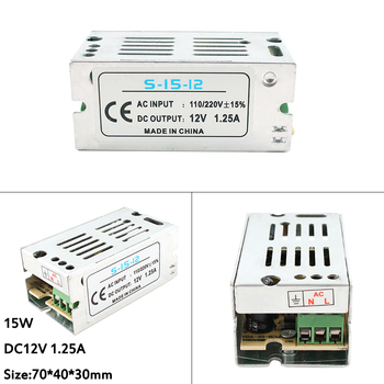 Adjustable Driver Switching DC 12V 1A 2A 3A 5A 8.5A 10A 15A 20A 12 V Volt Transformers LED Adapter Power Supply