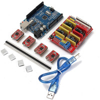 CNC Shield Expansion Board 4 X A4988 Stepper Motor Driver With Heatsink UNO R3 Board Kits