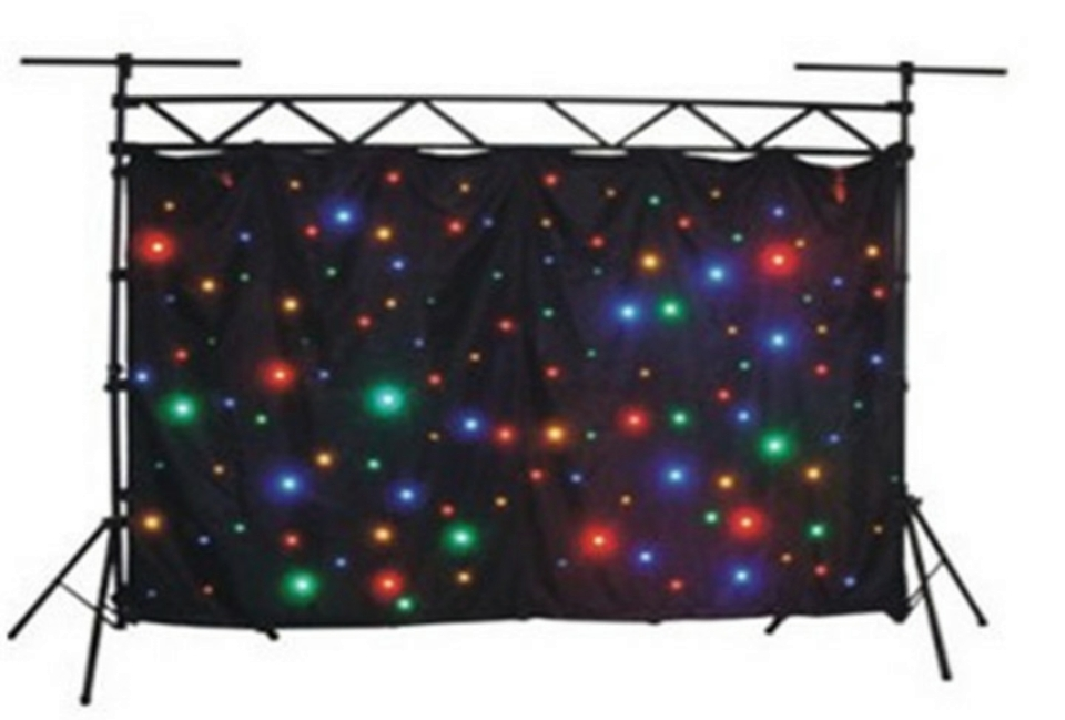Işıklar ve Aydınlatma'ten Sahne Aydınlatması Efekti'de RGBW/RGBY 3x6 M LED yıldızlı perde 240 adet SMD Yüksek parlak sahne Kumaş Yanmaz Kadife + Denetleyici title=