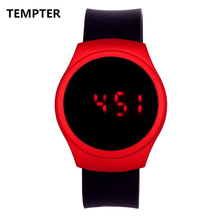 TEMPTER Silicone LED Luminous Fashion Ladies Outdoor Watch Women's Men colorful Sports WristWatches Men Watch Relogios Masculino