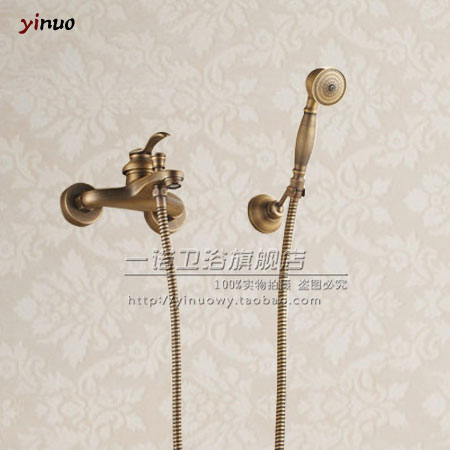 Wholesale And Retail Euro Fashion Antique brass Copper Shower Set Faucet Bathroom Mixer Faucet Tap Hot SaleWholesale And Retail Euro Fashion Antique brass Copper Shower Set Faucet Bathroom Mixer Faucet Tap Hot Sale