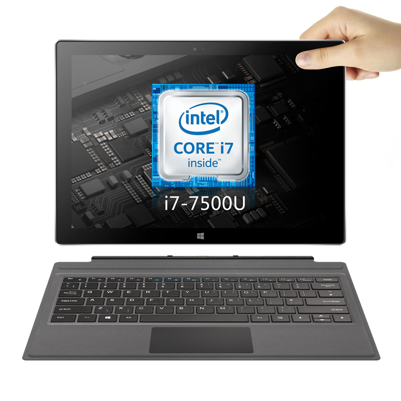 I7 Ultrabook 7th Gen i7 7500U VOYO 2in1 Tablette PC Portable 16 gb RAM 512g SSD Écran Tactile IPS de licence win10 avec clavier et stylo