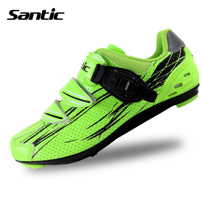 ФОТО Santci Professional Mountain Outdoor Climbing Hiking Cycling Shoes Bicycle Lock Road Sport Breathable Shoes Ciclismo Zapatos