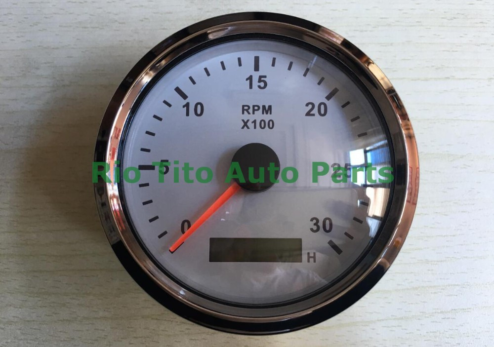 ФОТО 1pc brand new gasoline diesel engine tachometers 3000RPM 12v / 24v fit for yacht speed boat auto truck universal