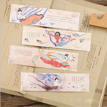 30pcs/box Dunhuang Music Gift Bookmarks Marker Stationery Gift Realistic Kawaii Cartoon Bookmarks Office School Supply цена 2017