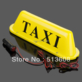 d008b  12V-24V LED Long  Car Auto Dome Roof Cab Magnetic Taxi Hire Light Lamp Yellow  taxi top light  send 2pcs   bulb as gift