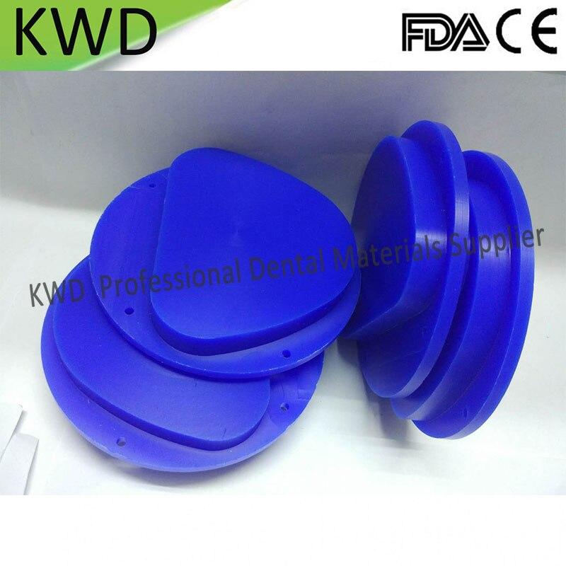 5 Pieces Lot 89x71mm Amann Girrbach Dental Wax Blocks Discs Blue CAD CAM System Dental Lab