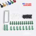 Motorcycle Aluminum Fairing Bolts Kit For 2003-2006 Kawasaki Ninja ZX6R / 636 / ZX6RR  Motocross Enduro Supermoto