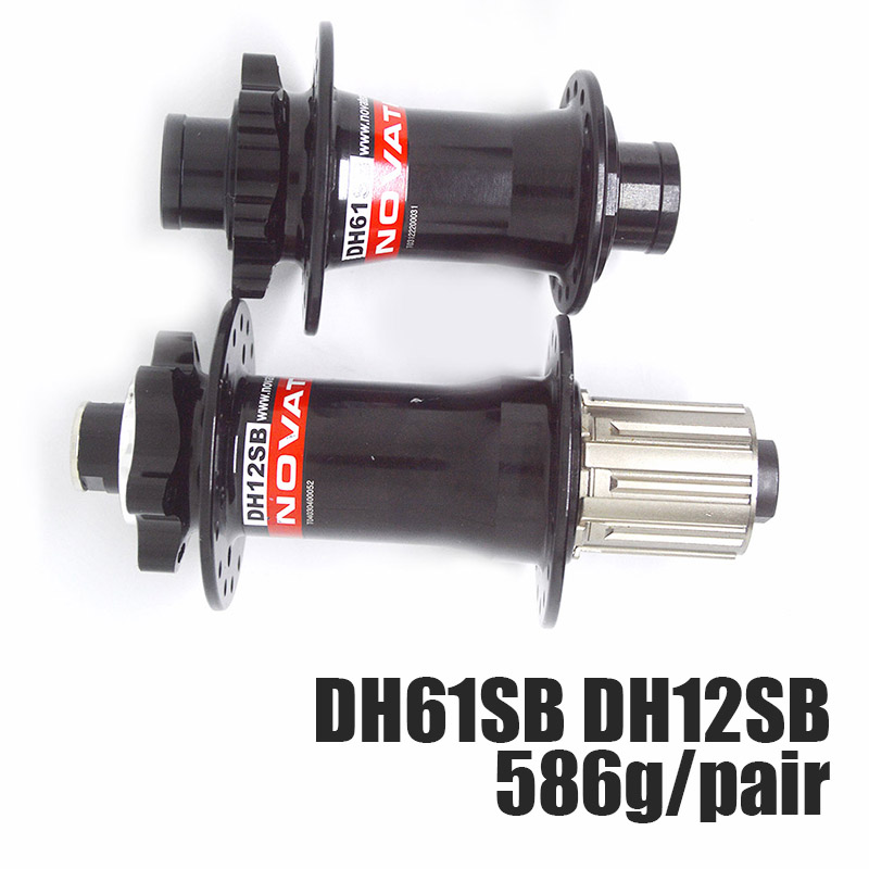 Downhill DH Agressive Freeride FR MTB Bicycle Bike Hub NOVATEC DH61 DH12SB Aluminum 4 Bearing 32H Hub 150mm Bicycle Accessories цены
