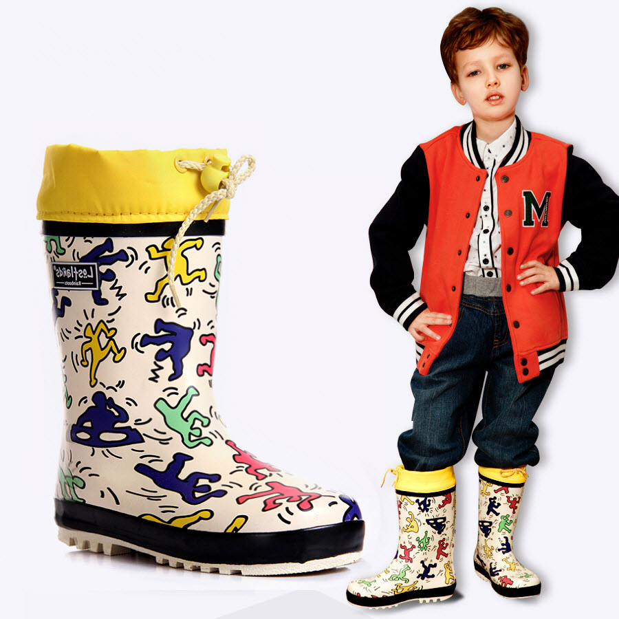 Kid Rainboots Anti-Slip Boy gumboots wellingtons Girl wellies Gum Rubber Children rain boots Overshoes Rubbers galoshes dance free shipping fashion madam featherweight rubber boots rainboots gumboots waterproof fishing rain boots motorcycle boots