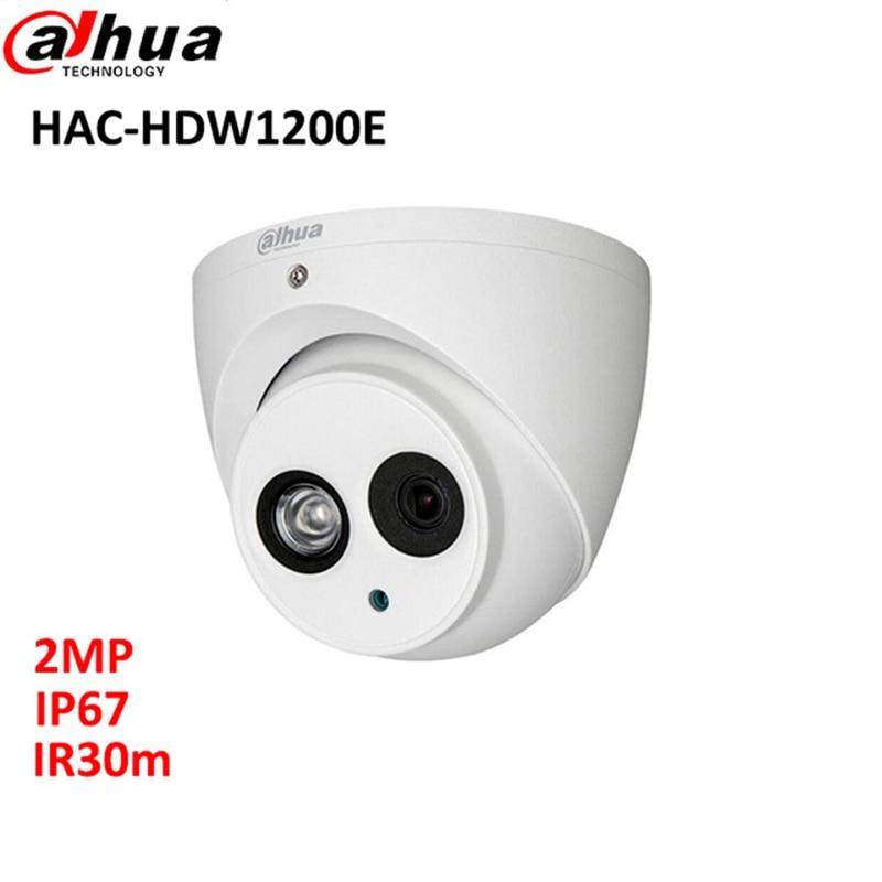 DAHUA HDCVI 2MP DOME Camera CMOS 1080P IR 20M IP67 HAC-HDW1200E CCTV security camera long distance real-time transmission dahua hdcvi camera 2mp hd 1080p dh hac hdw1200e network ir dome security camera cctv ir distance 50m hac hdw1200e