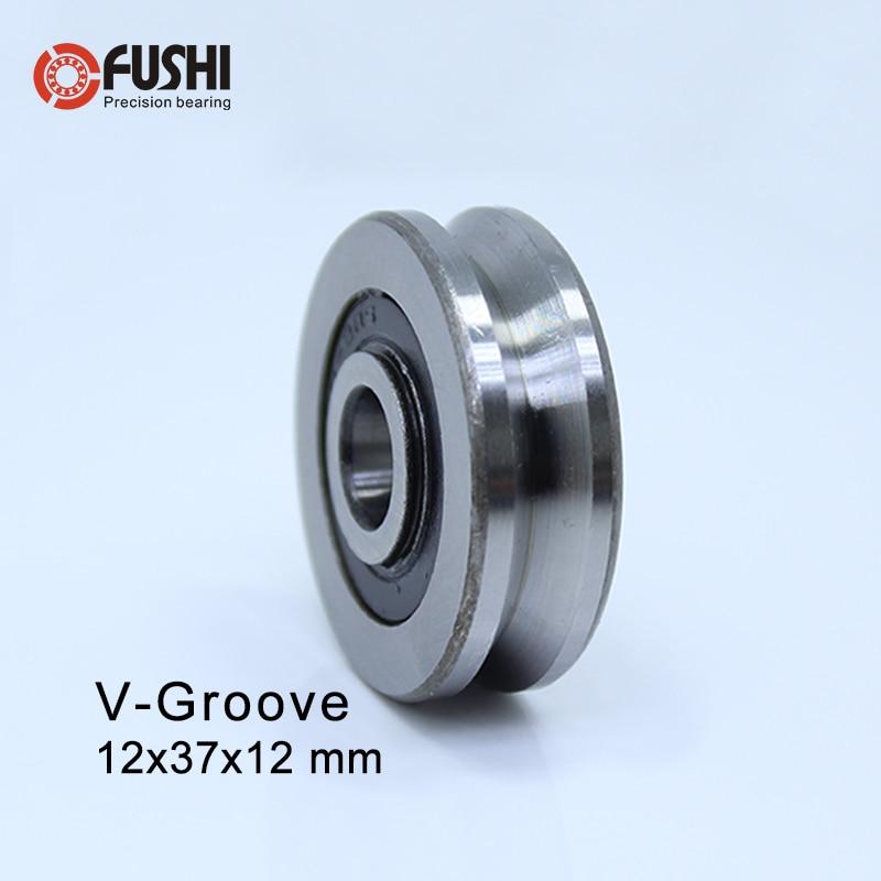 V123712 ( 4PCS ) V Groove Sealed Ball Bearing 12*37*12 Mm Pulley Wheel Bearings V4/1 Guide Track Rlooer Bearing