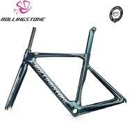 ROLLING STONE FINDER дорога карбоновая рама набор UCI утверждения Aero дорога рамки комплект Хамелеон зеленый синий