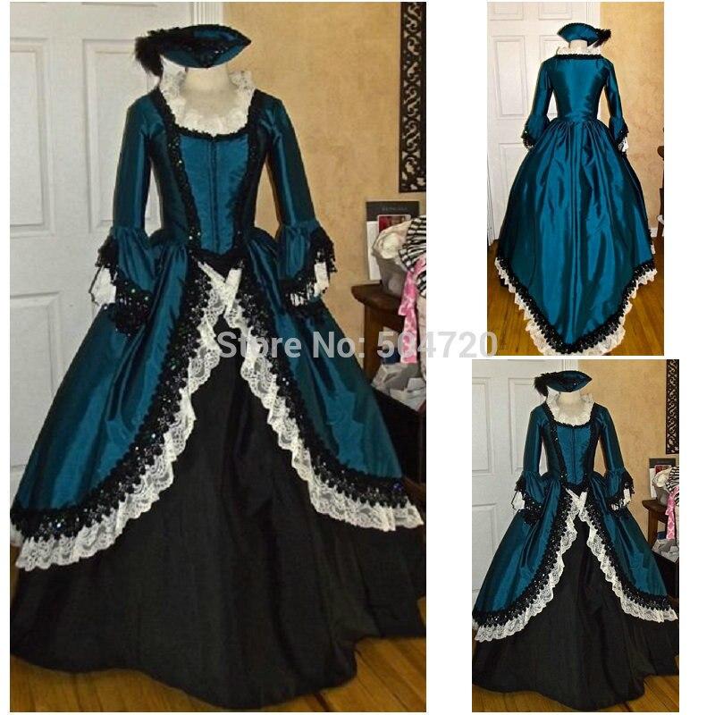Livraison gratuite! R-112 19 siècle Vintage costume victorien gothique Lolita/guerre civile sud Belle balle Halloween robes Sz US 6-26