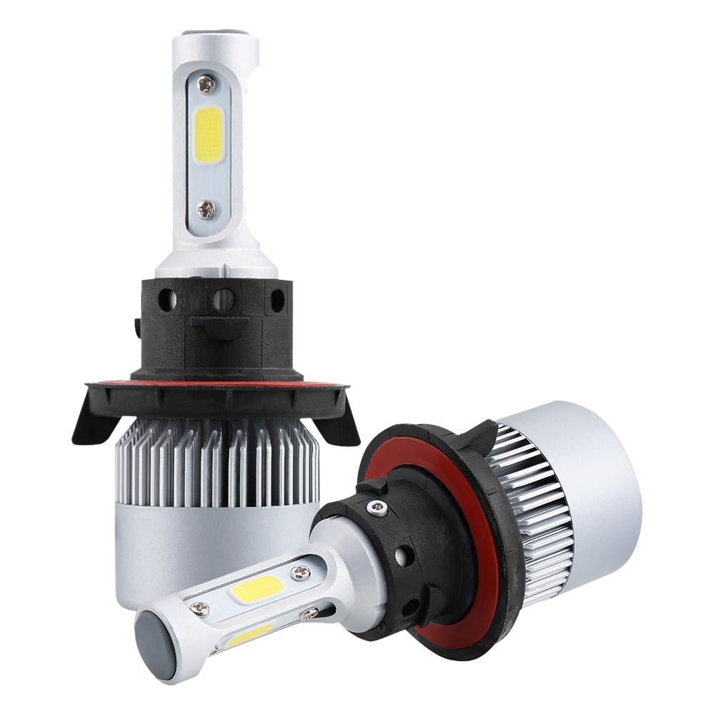 led h4 h7 h11 cob led car headlight bulbs kit 16000lm 110w h7 led 12v 9005 9006 9007 6500k auto. Black Bedroom Furniture Sets. Home Design Ideas