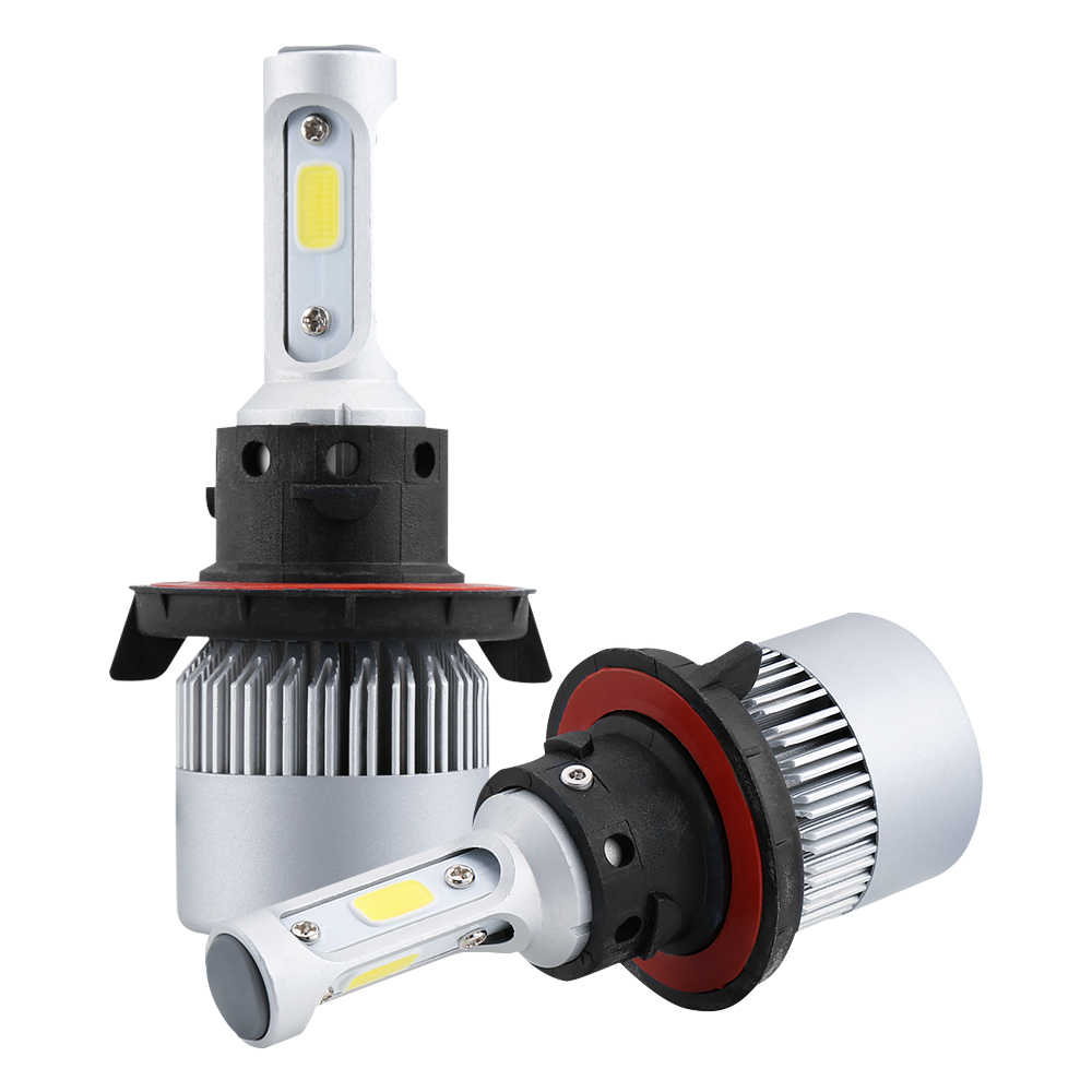 Led H4 H7 H11 COB Led Car Headlight Bulbs Kit 16000LM 80W H7 Led 12V 9005 9006 9007 6500K Auto Front Lamp Fog Light Car Styling