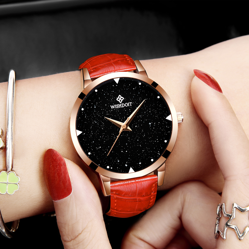 WISHODIT 2018 women watches Fashion dress ladies Watch women Leather Quartz Wrist Watch Relogio feminino girl Clock Montre Femme relogio feminino fashion women girl bracelet watch quartz ladies alloy wrist watch horloge 17oct25