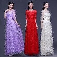 2c3936c9035 Фиолетовые красные выпускное платье цвета шампанского Половина рукава  A-Line Формальные платья для вечеринок кружева