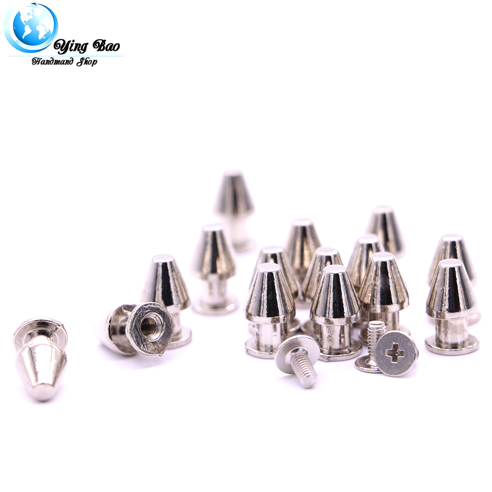 20sets/pack 8mm (Diameter), 13mm (Height) 3 Colors  gold studs diy studs and spikes wholesale B-17