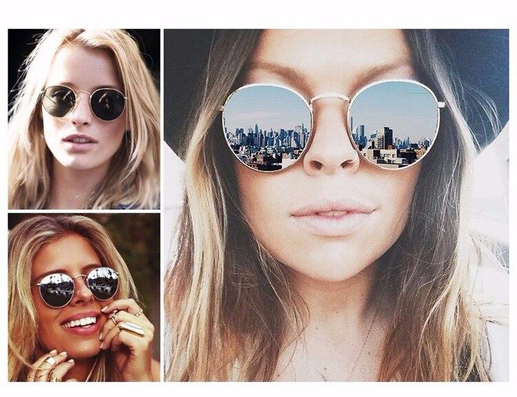 Luxury Brand Design Round Aviator Sunglasses Women Retro Brand Sun Glasses For Women Female Lady Sunglass Driving Mirror Glasses (17)