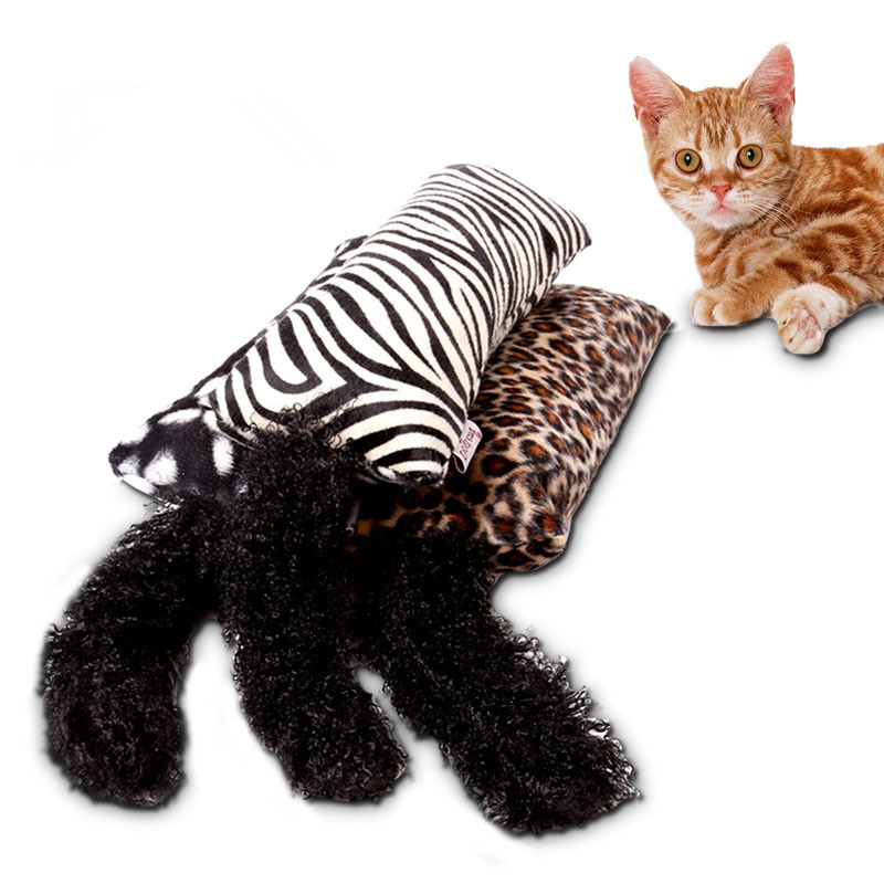 Funny Interactive Fancy Catnip dog Cat Toy Long Hair Tail Cat Mint Toys For Pets dog Cats Supplies Hot 3 colors for choose
