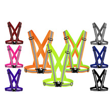 Reflective strap safety vest night riding running high visibility reflection fluorescent clothing multi colors