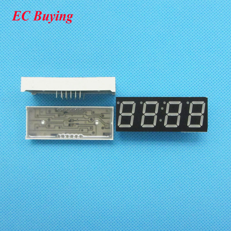 10pcs 4 Bit 4bit Digital Tube Common Anode Positive Digital Tube 0.56