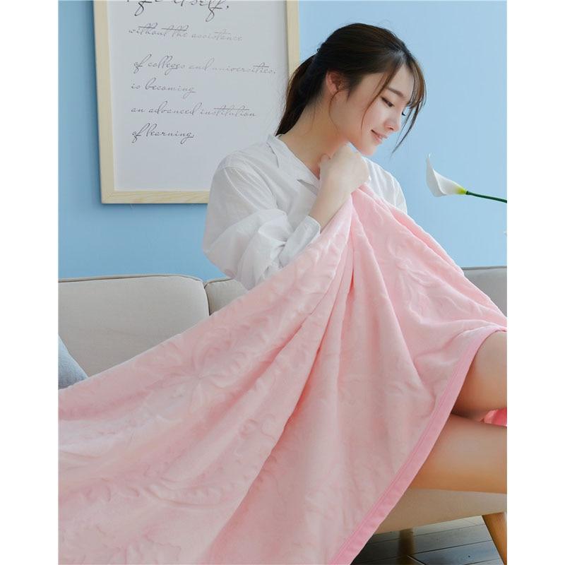 1 PCS Flannel Blanket Rectangle Pure Color Carved Coral Warm Soft Blankets For Beds Home Sofa Car Portable Blankets V20 цены онлайн