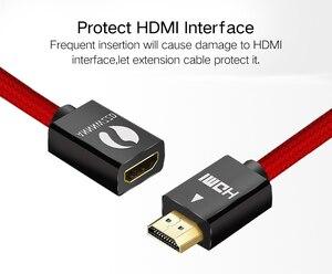Image 4 - HDMI 연장 케이블 V2.0 0.5M 1M 1.5M 2M 3M 남성 여성 Extender HDMI 케이블 골드 도금 금속 SHELL1080P 3D