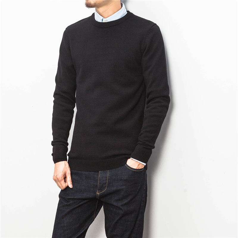 New arrive high quality solid color knitted casual sweater men basic pullover men pull homme mens clothing size m-5xl TTS16