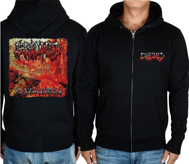 11 видов конструкций на молнии Exhumed Rock hoodies оболочка куртка 3D бренд панк Темный металлический Свитшот saw sudadera спортивная одежда - Цвет: 4