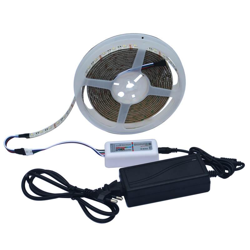 Jiawen 5050 DC12V RGBW LED tira 5M 300LED RGBW LED cinta de tira de - Iluminación LED - foto 5