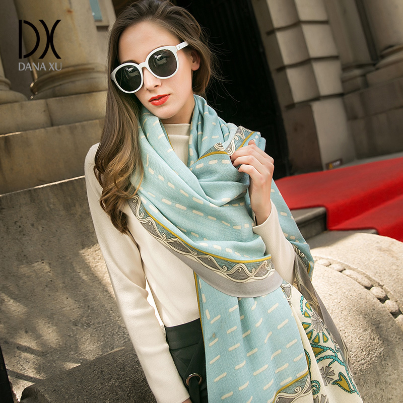 Luxury Brand Pashmina Echarp Cashmere Scarf Wrap Warm Shawl Winter Scarf Ladies Scarves Tassels Long Blanket
