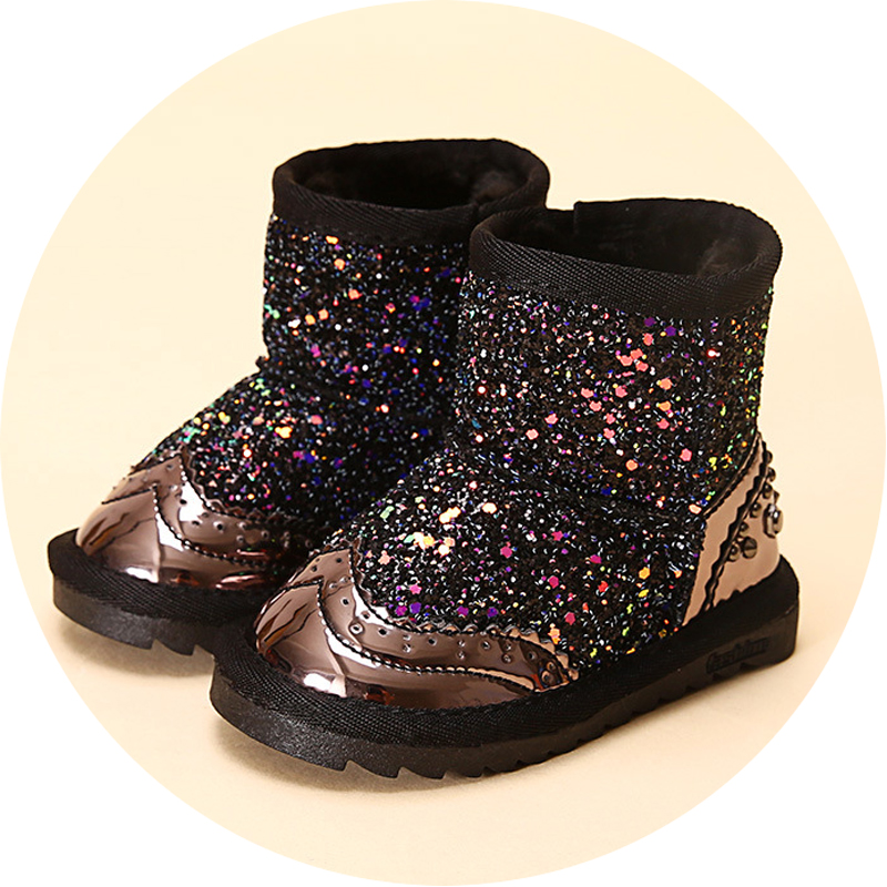 fashion colorful bling winter boots snow boot for