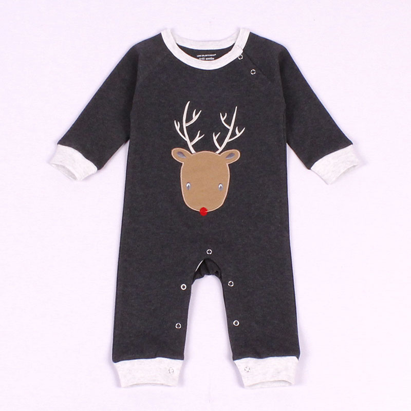 2017 New Winter Cotton Baby Clothes Baby Girls Boys Merry Christmas Long Sleeves Bodysuit Bounce kids Jumpsuit HB092