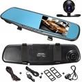 4.3 Дюймов 1080 P HD В-Стоянка для Автомобилей Зеркало Заднего вида DVR Рекордер Двойной линзы Камеры Черточки Монитор 32 Г
