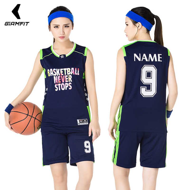 9473d10dcf6a8 19USA chica de baloncesto personalizadas camisetas sin mangas kits  deportivos mujer transpirable entrenamiento del equipo uniformes