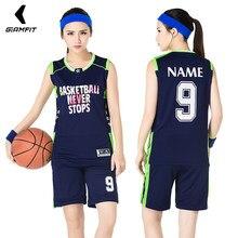 28f970e5 США Баскетбол майки без рукавов спортивные комплекты Женские Дышащие  команда Спортивная одежда Комплекты Высокое качество костюм