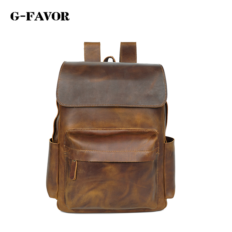 cow leather women man small backpack genuine leather man bag high quality shoulder duffel bag school men travel Laptop bag cow leather man backpack 100